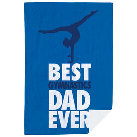 Gymnastics Premium Blanket - Best Dad Ever