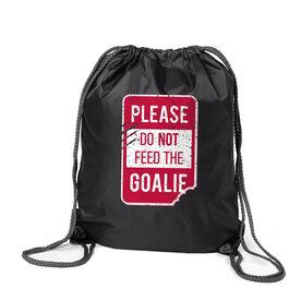Hockey Sport Pack Cinch Sack - Don't Feed The Goalie