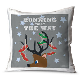 Running Throw Pillow Runner Reindeer