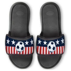 Soccer Repwell® Slide Sandals - Stars and Stripes