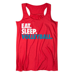 Volleyball Flowy Racerback Tank Top - Eat Sleep Volleyball (Bold)
