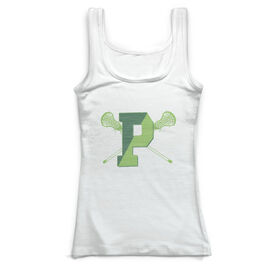 Vintage Fitted Tank Top - Pentucket Youth Girls Lacrosse Logo