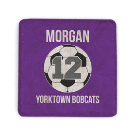 Soccer Stone Coaster - Personalized Soccer Ball