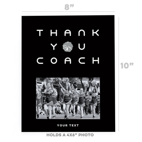 Cheerleading Photo Frame - Thank You Coach