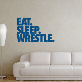 Wrestling Removable Wall Decal - Eat Sleep Wrestle