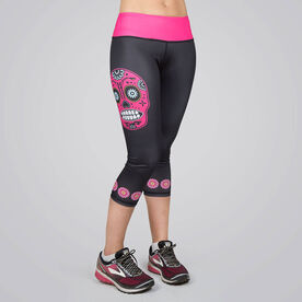 Running Performance Capris - Runner Skull