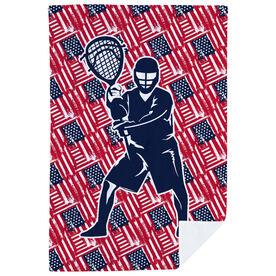 Guys Lacrosse Premium Blanket - USA Goalie