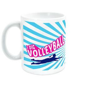 Volleyball Coffee Mug I Dig Volleyball