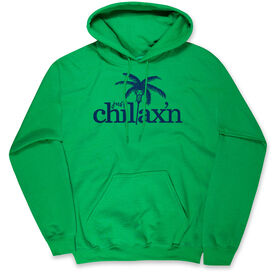 Lacrosse Hooded Sweatshirt - Just Chillax'n