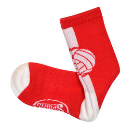 Volleyball Woven Mid-Calf Socks - Superelite (Red/White)