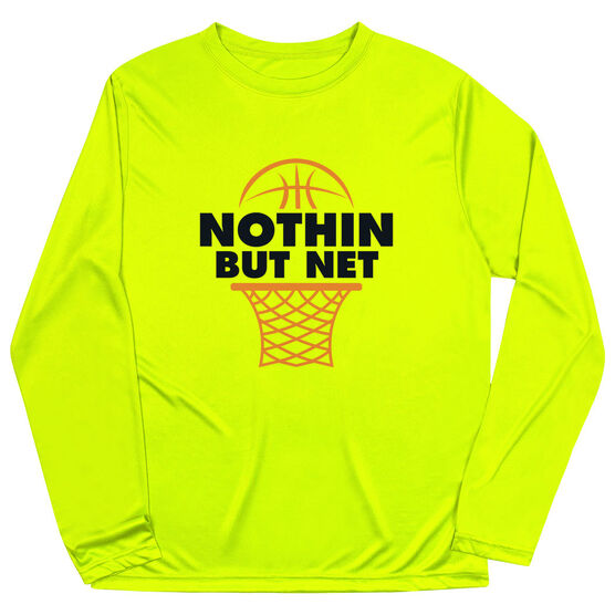 Basketball Long Sleeve Performance Tee - Nothin But Net