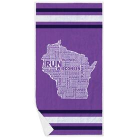 Running Premium Beach Towel - Wisconsin State Runner