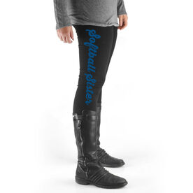 Softball High Print Leggings Sister