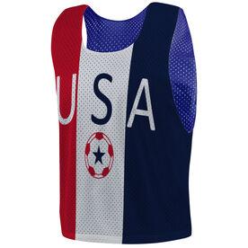 Soccer Pinnie - USA
