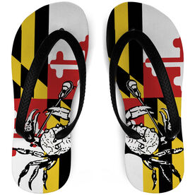 Guys Lacrosse Flip Flops Maryland