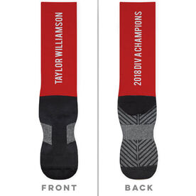 General Sports Printed Mid-Calf Socks - Your Text