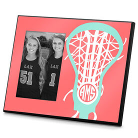 Girls Lacrosse Photo Frame Monogrammed Lax is Life