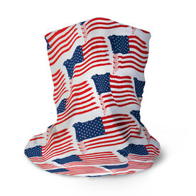 Hockey Multifunctional Headwear - American Flag Sticks Pattern RokBAND