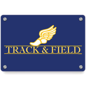 Track and Field Metal Wall Art Panel - Crest