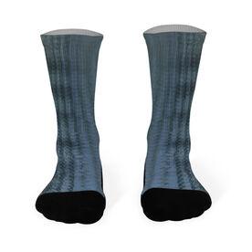 Fly Fishing Printed Mid Calf Socks Bonefish
