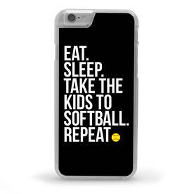 Softball iPhone® Case - Eat Sleep Take The Kids to Softball