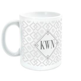 Volleyball Coffee Mug Monogram Link Pattern