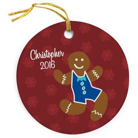 Wrestling Porcelain Ornament Gingerbread Man