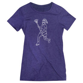 Girls Lacrosse Women's Everyday Tee - Girls Lacrosse Player Sketch