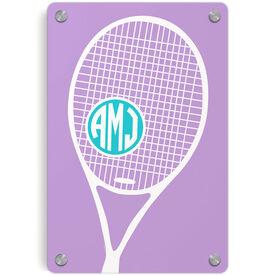 Tennis Metal Wall Art Panel - Monogrammed Tennis Life