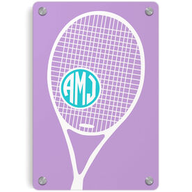 Tennis Metal Wall Art Panel - Monogrammed Tennis Life