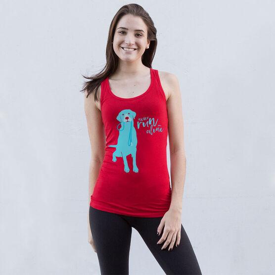 Women's Athletic Tank Top Never Run Alone