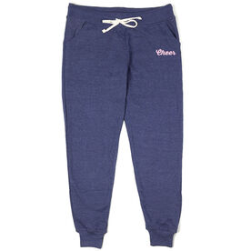 Cheerleading Joggers - Cheer Script [Navy/Adult X-Small/Pink] -SS
