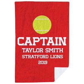 Tennis Premium Blanket - Personalized Captain
