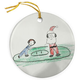 Wrestling Porcelain Ornament Your Artwork Here