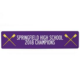 """Crew Aluminum Room Sign - Team Your Text With Crossed Oars (4""""x18"""")"""