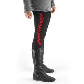 Baseball High Print Leggings Baseball Stitches