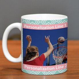 Basketball Coffee Mug Custom Photo with Pattern