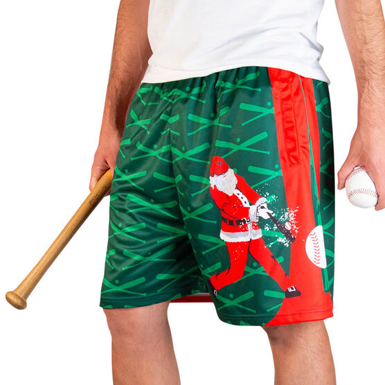 Home Run Santa Baseball Shorts