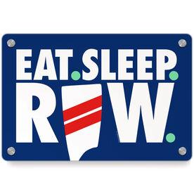 Crew Metal Wall Art Panel - Eat Sleep Row