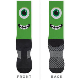 General Sports Printed Mid-Calf Socks - Monster Eyes