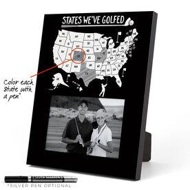 Golf Photo Frame - States We've Golfed Outline