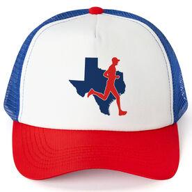 Running Trucker Hat - Texas Male Runner