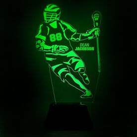 Guys Lacrosse Acrylic LED Lamp Player Name and Number