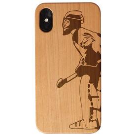 Field Hockey Engraved Wood IPhone® Case - Goalie
