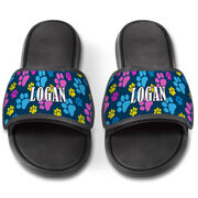 Personalized Repwell® Slide Sandals - Paw Prints