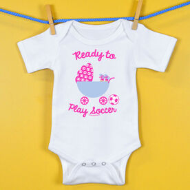 Soccer Baby One-Piece Ready To Play Soccer Girl