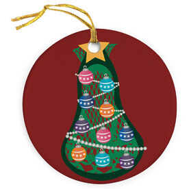 Guys Lacrosse Porcelain Ornament Stick Head Christmas Tree