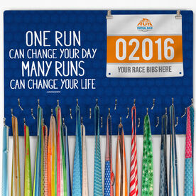 Running Large Hooked on Medals and Bib Hanger - Change Your Life
