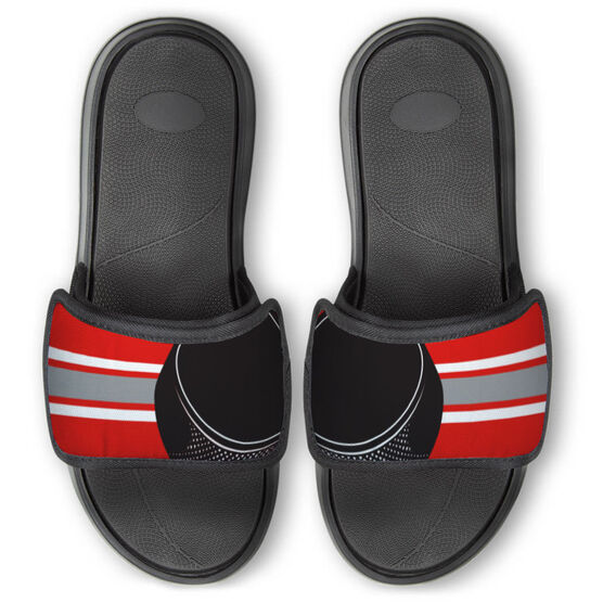 Hockey Repwell® Slide Sandals - Puck Reflected