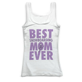Snowboarding Vintage Fitted Tank Top - Best Snowboarding Mom Ever